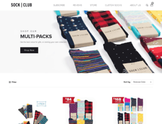 store.sockclub.com screenshot