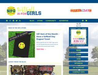 store.softballisforgirls.com screenshot
