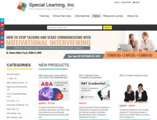 store.special-learning.com screenshot