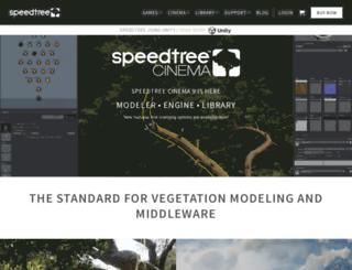 store.speedtree.com screenshot