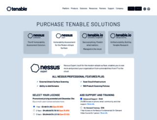 store.tenable.com screenshot