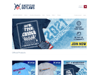 store.theamericanoutlaws.com screenshot