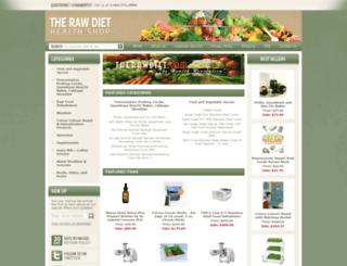 store.therawdiet.com screenshot