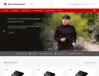 store.ti.com screenshot