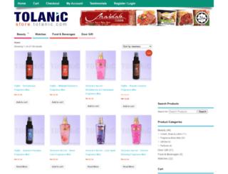 store.tolanic.com screenshot