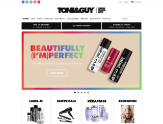 store.toniandguy.com screenshot