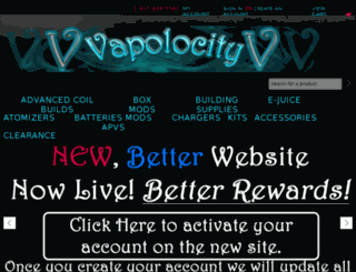store.vapolocity.com screenshot