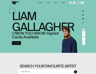 store.warnermusic.com.au screenshot