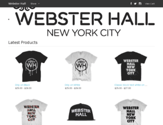 store.websterhall.com screenshot