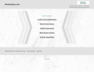 store.wholesaleav.com screenshot