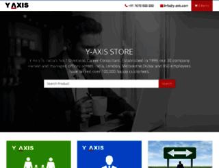 store.y-axis.com screenshot