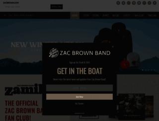 store.zacbrownband.com screenshot