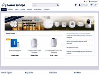 store.zwaveeurope.com screenshot