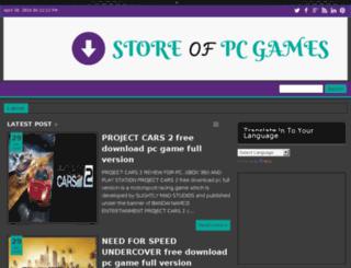 storeofpcgames.com screenshot