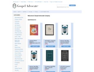 stores.gospeladvocate.com screenshot