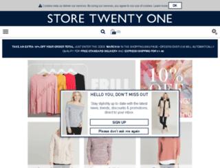 storetwentyone.co.uk screenshot