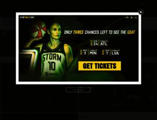 storm.wnba.com screenshot