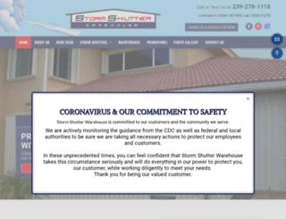 stormshutterwarehouse.com screenshot