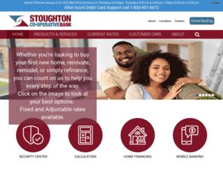 stoughtoncoopbank.com screenshot