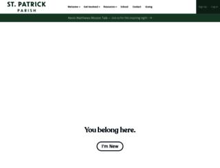 stpatrickparish.org screenshot