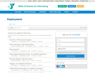 stpeteymca.applicantpro.com screenshot