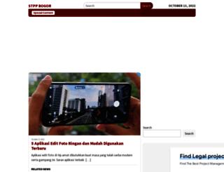 stpp-bogor.ac.id screenshot