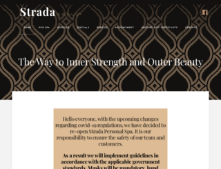 stradapersonalspa.com screenshot