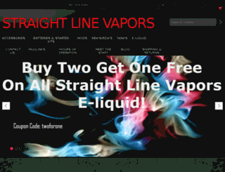 straightlinevapors.com screenshot