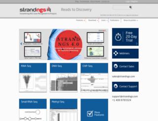 strand-ngs.com screenshot