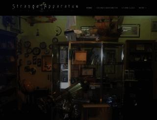 strangeapparatus.com screenshot