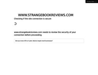strangebookreviews.com screenshot