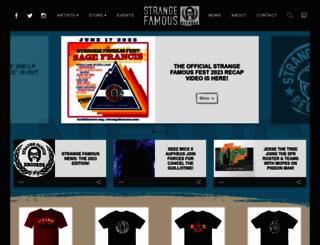 strangefamous.com screenshot