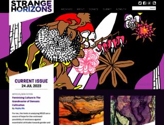 strangehorizons.com screenshot