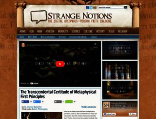 strangenotions.com screenshot