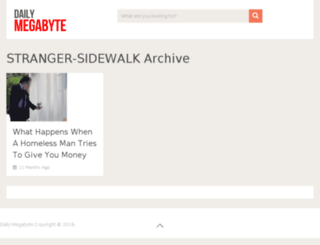 stranger-sidewalk.dailymegabyte.com screenshot