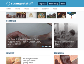 strangeststuff.com screenshot