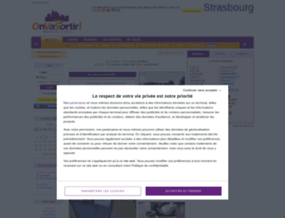 strasbourg.onvasortir.com screenshot