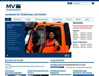 strassenbauverwaltung.mvnet.de screenshot