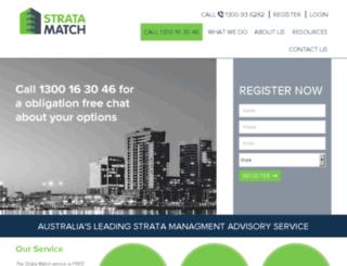 stratamatch.com.au screenshot