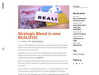 strategicblend.com screenshot