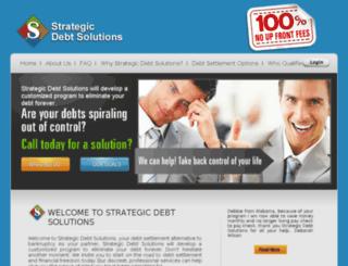 strategicdebtsolution.com screenshot