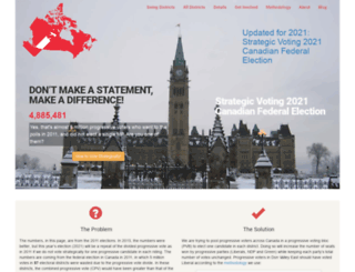 strategicvoting.ca screenshot