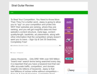 stratelectricguitarreview.com screenshot