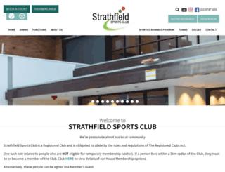 strathfieldsportsclub.com.au screenshot