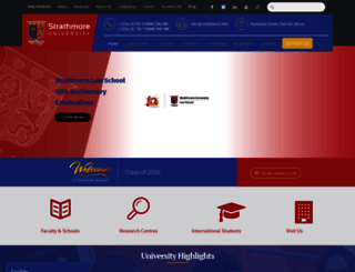 strathmore.edu screenshot