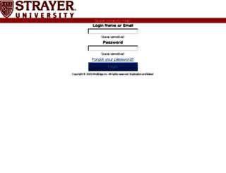strayer.mindedgeonline.com screenshot