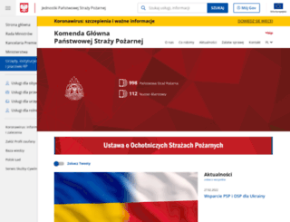 straz.gov.pl screenshot