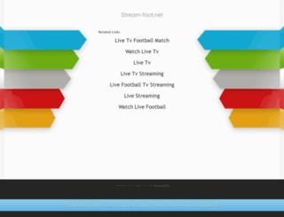 stream-foot.net screenshot