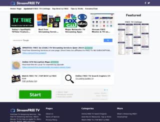 streamfree.tv screenshot