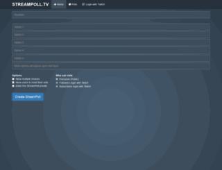 streampoll.tv screenshot